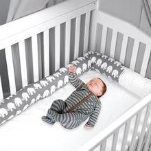 Детская кроватка бампер безопасный моющийся детское постельное белье-бампер детская кроватка Стандартный детский матрас подкладка детский бампер для кроватки
