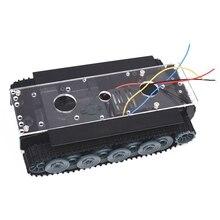 دبابة مع جهاز للتحكم عن بُعد روبوت ذكي خزان السيارة هيكل عدة المطاط المسار الزاحف لاردوينو لتقوم بها بنفسك ألعاب روبوتية للأطفال