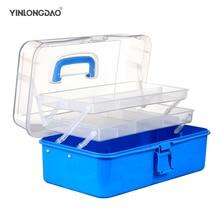Пластиковый ящик для хранения медицина организатор 3 слоя многофункциональный портативный шкафа семейный аварийный набор инструмент DIY