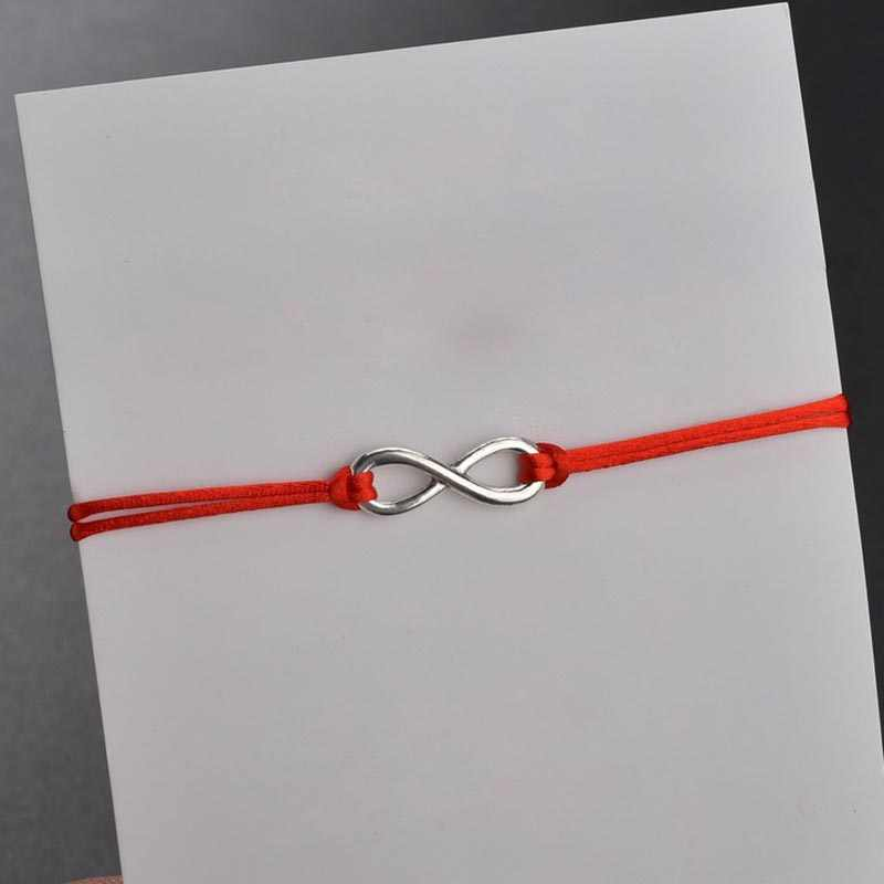 Btwgl 2 Pcs/set Bersama Selamanya Cinta Tanpa Batas Gelang untuk Pecinta Benang Merah Gelang Couple Pria Wanita Keinginan Perhiasan Hadiah