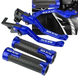 Image 1 - For SUZUKI GSR750 GSXR750 2004 2005 Motorcycle Clutch Brake Lever Aluminum Adjustable Lever 7/8 22MM Handle Grips GSXR 750