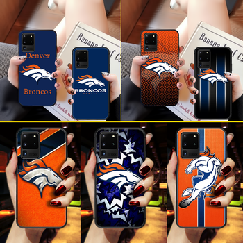 American Football Denver Bronco Phone Case Cover Hull For Samsung Galaxy S 6 7 8 9 10 e 20 edge uitra Note 8 9 10 plus black image