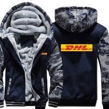 DHL Hoodies Winter Camouflage Sleeve Jacket Men Fleece Dhl Sweatshirts
