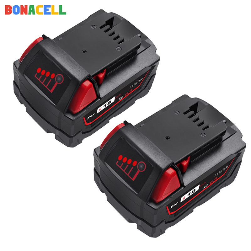 BONACELL For Milwaukee M18 <font><b>6000mAh</b></font> 18V M18 Power Tools Rechargeable Li-ion <font><b>Battery</b></font> Replacement 48-11-1815 48-11-1850 48-11-1840 image