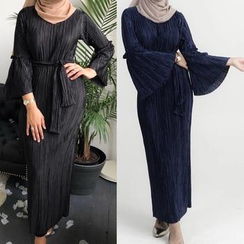 Eid Mubarak las mujeres musulmanas Turquía Dubai Abaya Kimono Kaftan marroquí Hijab vestido ropa islámica Vestidos Largos