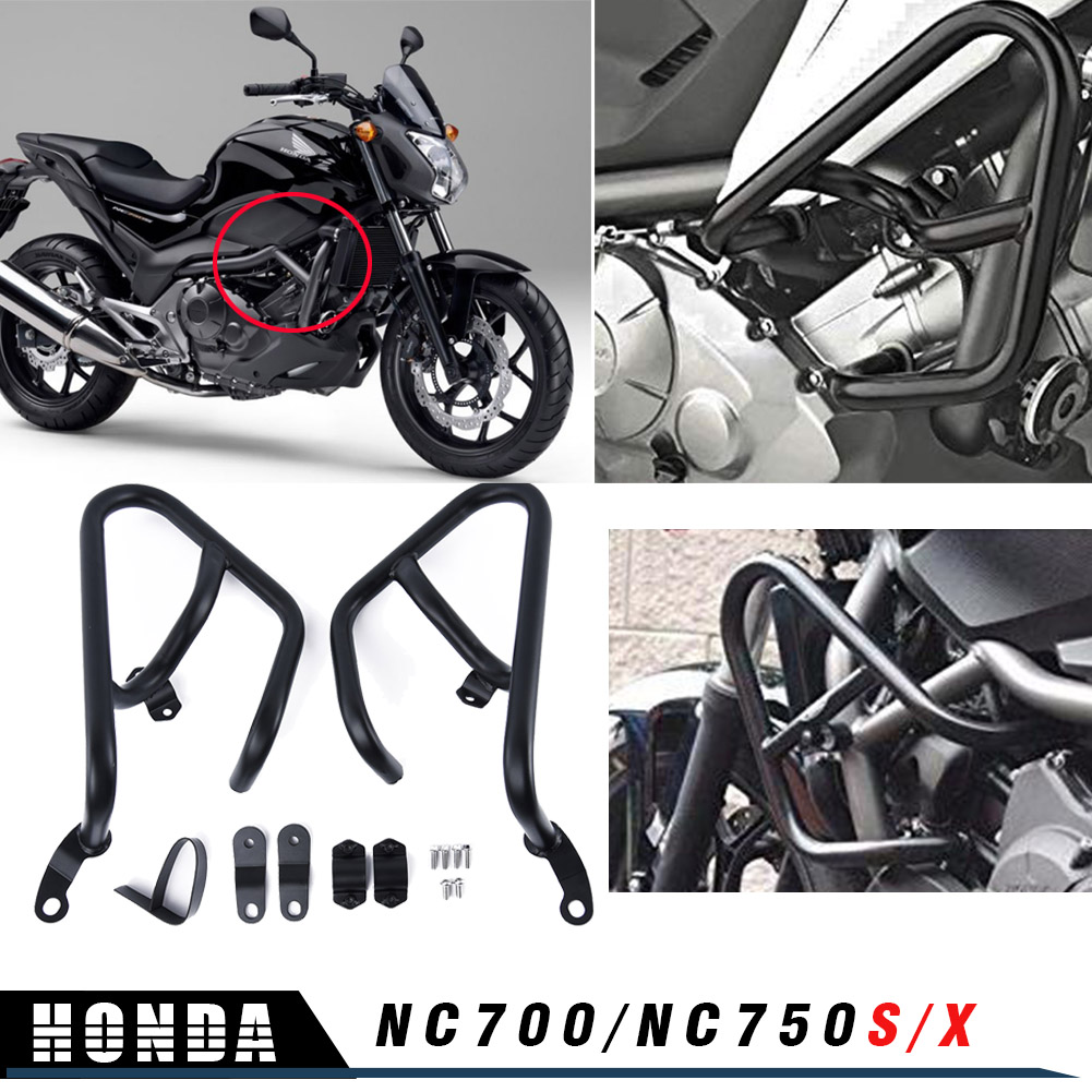 Motorcycle NC700 X Steel Engine Highway <font><b>Crash</b></font> <font><b>Bar</b></font> Bumper Protector for <font><b>Honda</b></font> NC750X NC750S <font><b>NC700X</b></font> NC700S DCT Falling protection image