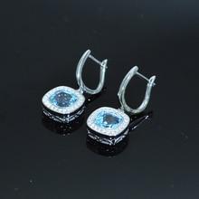 Женские серьги с подвеской mh из серебра 925 пробы натуральным
