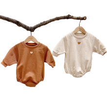 Newborn Baby Clothes Bear Print Bodysuit Boys Girls Long Sleeve Jumpsuit Cotton Baby Girl Clothing