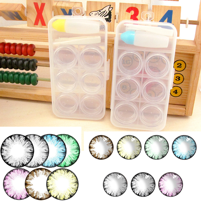 6 Grids Contact Lens Box Travel Kit Easy Carry Portable Small Clear Eyewear Bag Container Contact Lenses Soak Storage Case