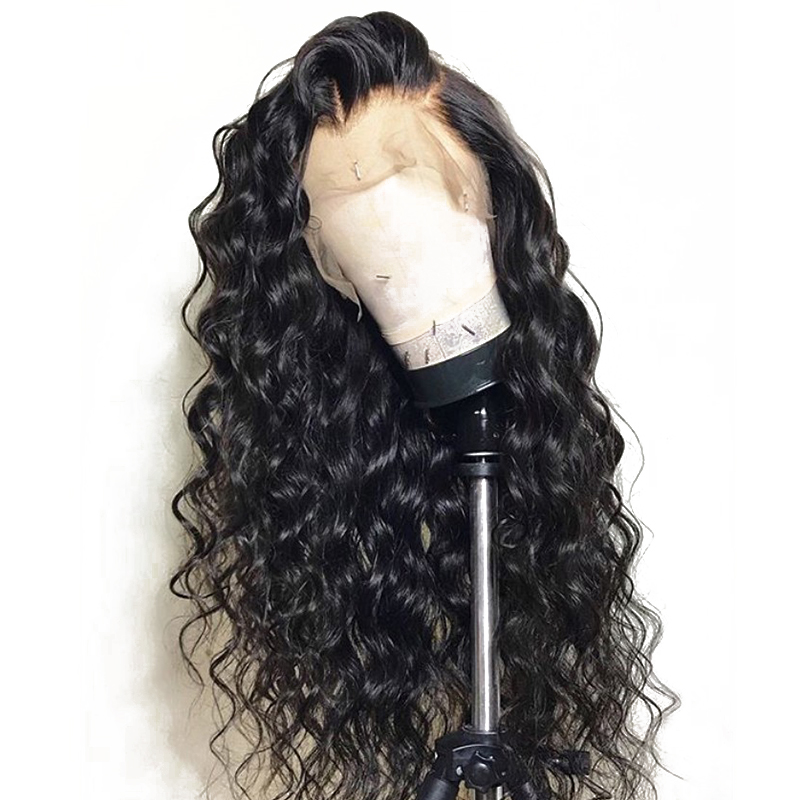 250 Density Loose Wave Lace Front Wigs For Women 13X6 Lace Front Human Hair Wigs Brazilian Pre Plucked Baby Hair You May Remy-in High Density Lace Wigs from Hair Extensions & Wigs    1