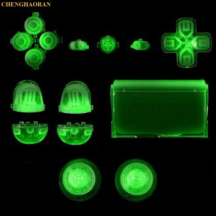 Luminous 2.0 Version Red Full Sets Replacement Parts Buttons For PlayStation 4 PS4 010 011 Controller For DUALSHOCK 4 CONTROLLER