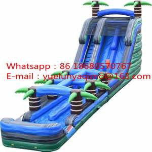 Factory direct sales of inflatable slides, pool slides, water slide parks for sale