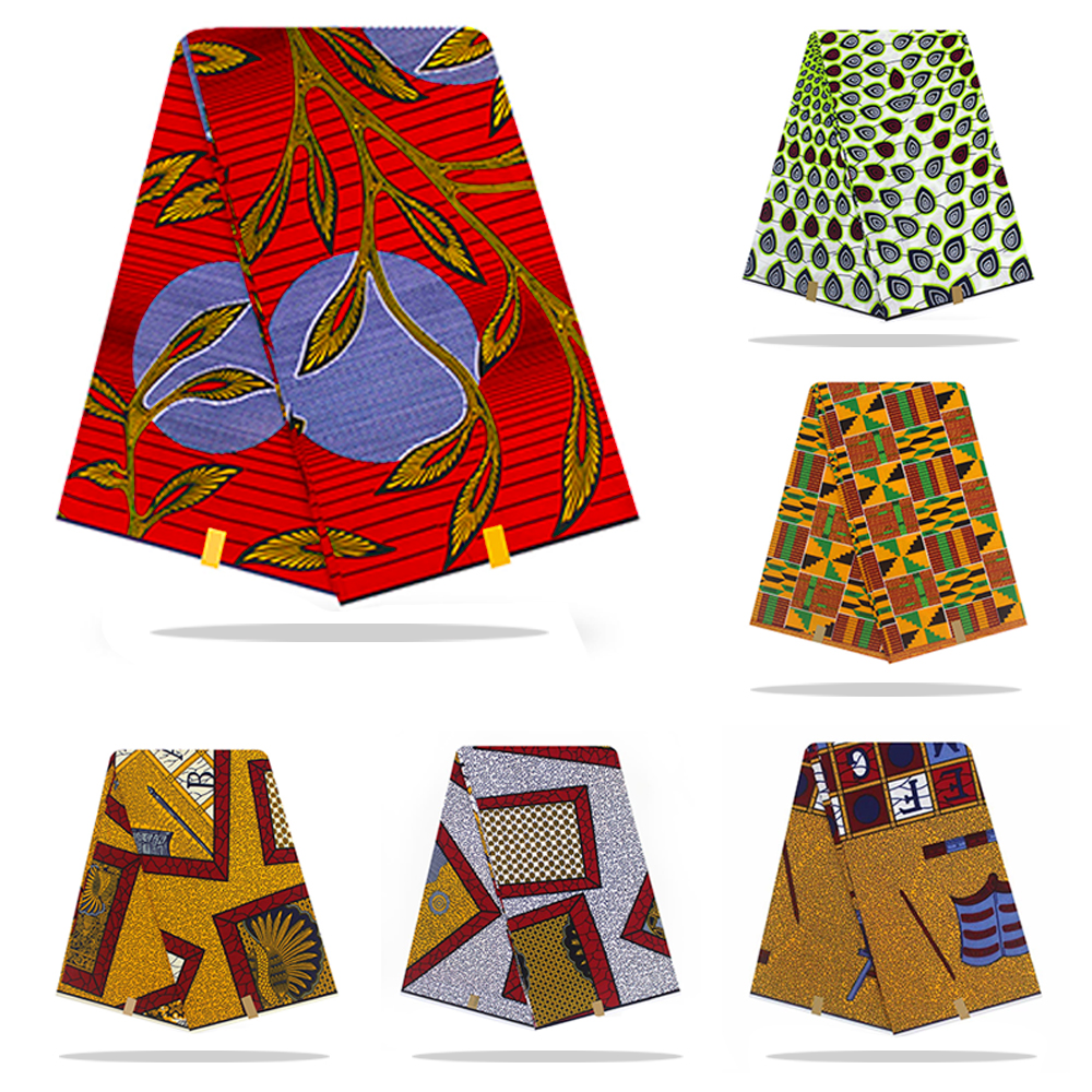 Holland Wax Cloth African Fabric Wax Print 100% Cotton Material 6yards African Ankara Wholesale Cotton Wax Fabric For Dress