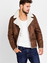 цена на Suede Motorcycle Jacket Men Winter 2019 Fashion Brown Faux Leather Jackets Coats Man Fleece Outwear Casual Basic Coat Clothes