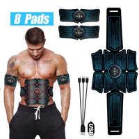 Eletroestimulação estimulador muscular ems cinto de vibração abdominal abs muscular hip trainer massagem em casa ginásio equipamentos fitness