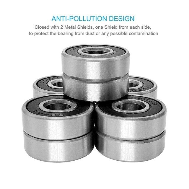 Фото 60pcs/set 608 2rs ball bearing abec 5 8x22x7 mm deep groove цена