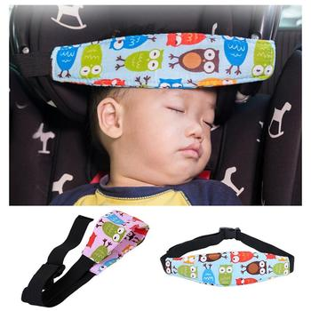 Child Car Safety Seat Head Fixing Auxiliary Belt Pram Secure Strap Adjustable Band for Baby Pram Child Safety Seat Pillows image