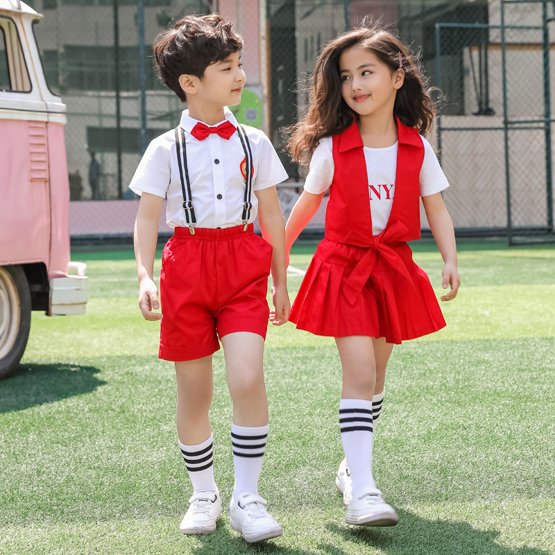 New Style CHILDREN'S DAY Performance Wear Kindergarten Suit Performance Wear Men And Women Children School Uniform Primary Schoo