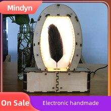 Pluma galopante electrónica hecha a mano, kit de baile lento, arte visual, material de madera, paquete, regalo decorativo