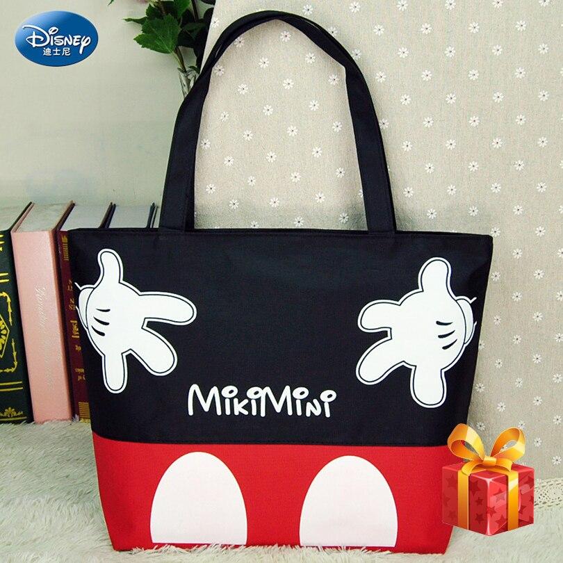 Disney 2019 Fashion Messenger Bag Mickey Minnie Totes Canvas Bag Ladies Cartoon Clutch Female Handbag Shopping Bag Lunch Box Bag