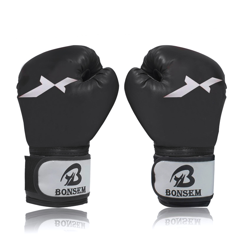Brazilian Muay Thai PU Leather Boxing <font><b>Gloves</b></font> <font><b>Twin</b></font> Women Men MMA Gym Training Grant PU Leather Boxing <font><b>Gloves</b></font> image