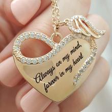 Модное изысканное женское ожерелье с подвеской в форме сердца