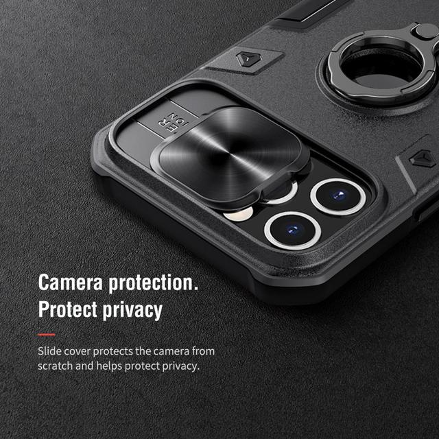 iPhone 12 Pro Max Case for iPhone 12 Mini Case with Ring stand Case Camera Protection Slide cover 2