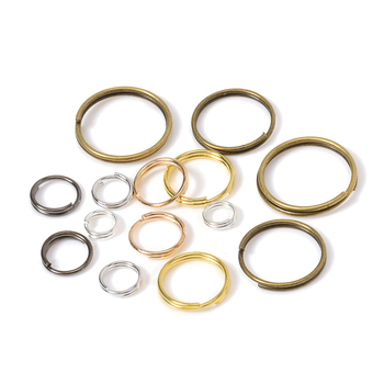 200pcs 5/6/7/8/10/12/14mm Double Loop Key Ring Split Ring Clasp For DiY Jewelry Making Keychain Bracelet Connector Findings 10pcs lot 25 28 30mm gold round key ring llaveros clasp findings key chain split ring plated key ring for jewelry making
