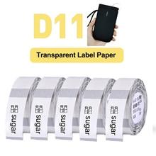 Transparent-Paper D11 Niimbot White Waterproof for Portable Thermal-Label-Printer