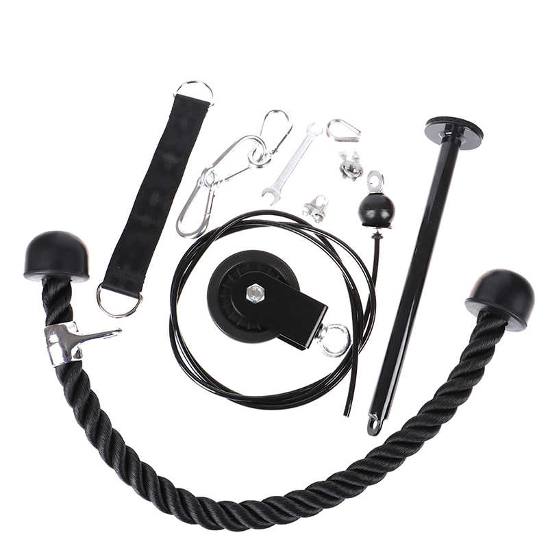 Lat Pull Down Workout Cable Pulley Home Multi Gym Equipment Hanging Strap Mount