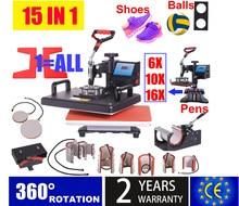 15 dans 1 Machine de presse à chaud, imprimante de Sublimation/presse de chaleur de stylo de Machine de transfert de chaussure pour la tasse/chapeau/t-shirt/chaussure/bouteille/stylo/football
