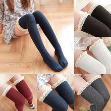 New Fashion Women Girls Cable Knit Extra Long Boot Sockings