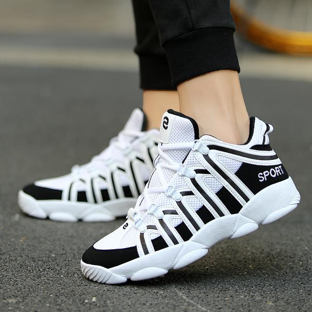 GOODRSSON Unisex Casual Shoes Men Women Stripe Style Sport Tennis Sneakers Male Female Lightweight Walking Fashion Footwear 2019