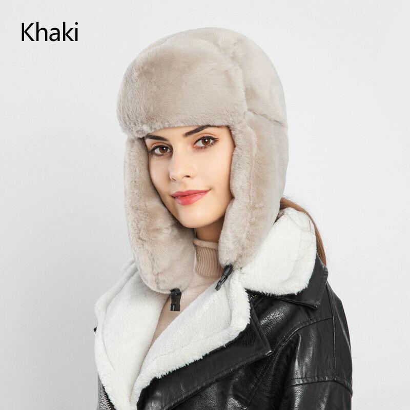2019 Winter Ski Hat Russian Hat Men Women Warm Earmuffs Thicken Ear-flapped Hat Faux Fur Lei Feng Cap Bonnet