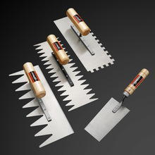 Plastering Trowel Bricklayer Tool Plastering Stainless Steel Bricklayer Tile Tool Serrated Scraper Decoration Tile