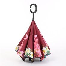 Настраиваемые, с логотипом реклама на зонтиках зонтик креативный подарок двухслойный зонтик автомобильный обратный зонтик производители W