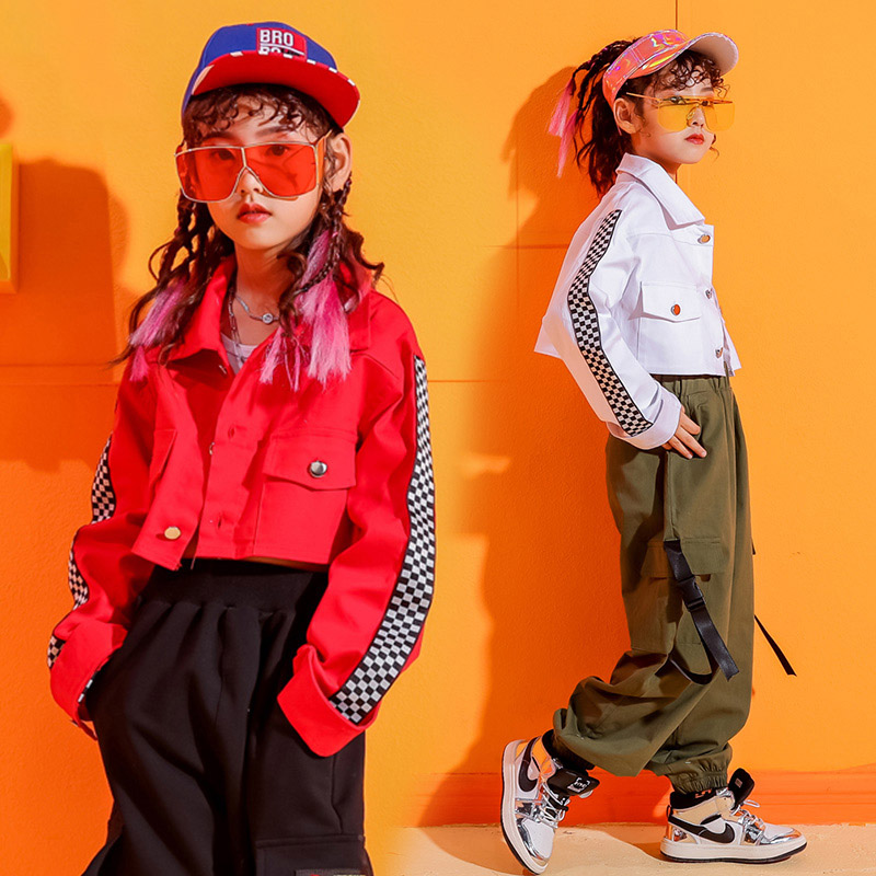 Popular Jazz Dance Costume Girls Long Sleeve Hiphop Rave Outfit Street Dance Practice Wear Stage Performance Clothing DC3248 фото