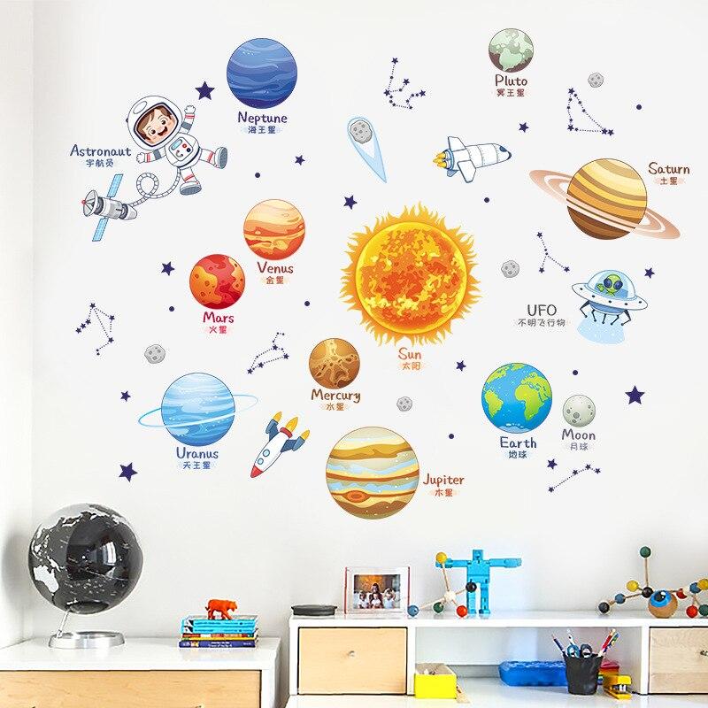 Наклейка на стену с мультяшными звездами для детского сада класс декоративная наклейка на стену для детской комнаты