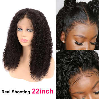 Curly Human Hair Wig Lace Front Human Hair Wigs For Black Women 30 Inch Lace closure Wig Remy 180 Peruvian Curly Wig Closure Wig