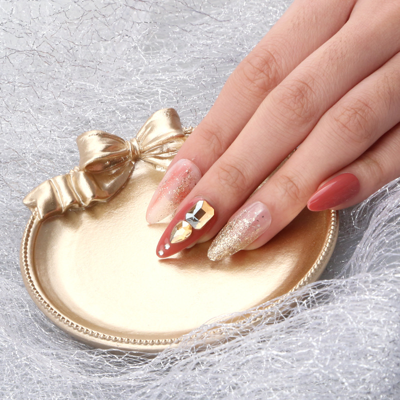 European Style Nail Art Plate Tips Display Stand Golden Champagne Metal Bow-Knot Jewelry Storage Tray Photo Props Showing Tools