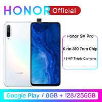 "Honor 9X Pro 8GB 128GB 256GB Kirin 810 Liquid Cool Smartphone 48MP Triple Camera 6.59"" Auto Pop-Up Camera cellphone"