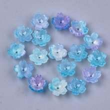 20 штук Смола 5 лепесток Сакура цветок из бисера колпачки и