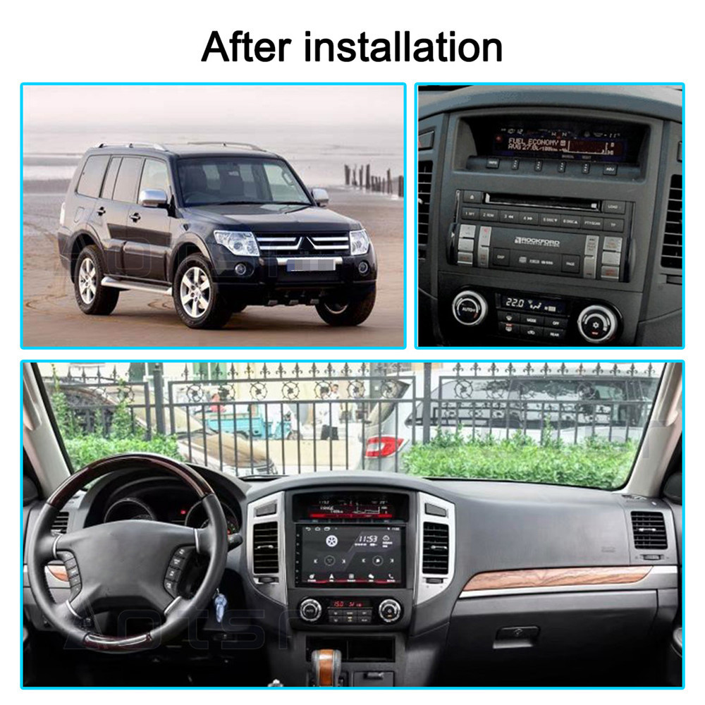 DSP Android <font><b>10</b></font> Carplay Car GPS Navigation DVD Player For Mitsubishi Pajero 4 2006+ Auto Stereo Radio Multimedia Player Head Unit image