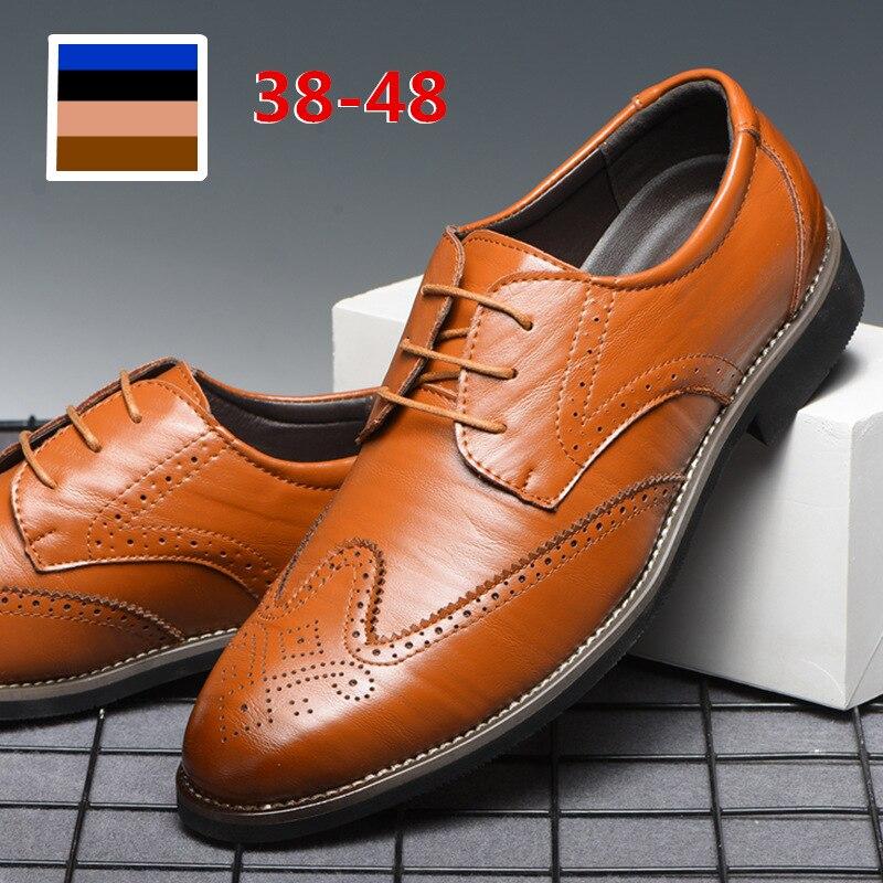 38 48 кожаные туфли мужские джентльменские стильные удобные