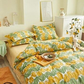 Classic Bedding Set Yellow Tulips