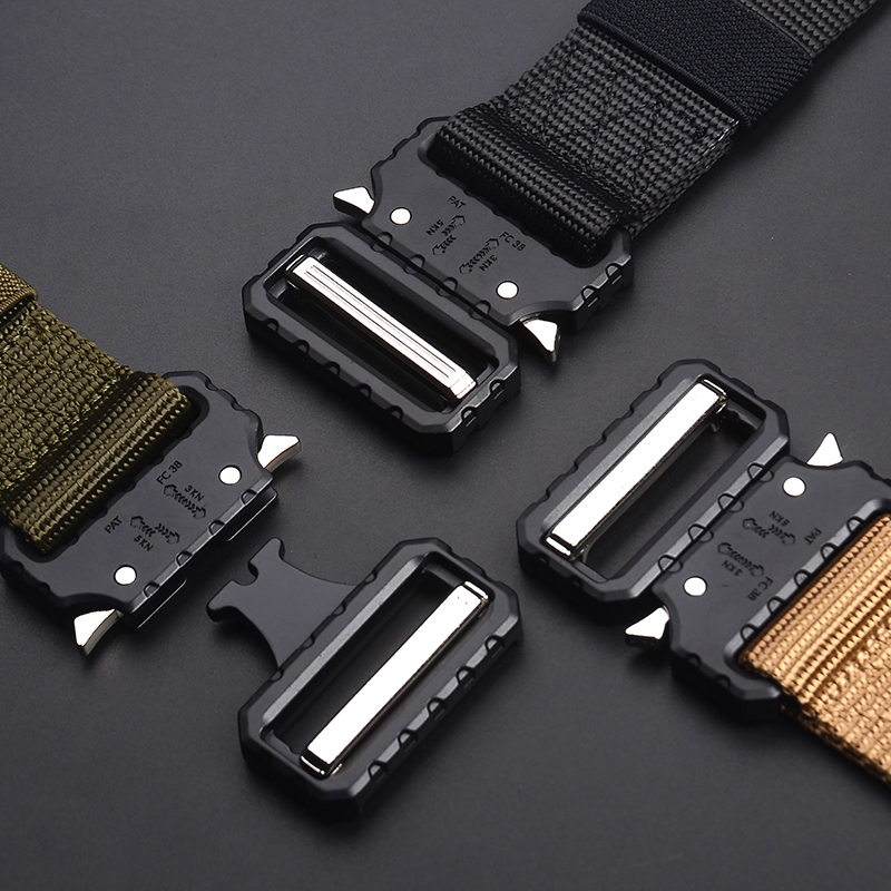 New Men's Military Cobra Buckle Belt Tactical Men Belts Outdoor Tactical Male Jeans Belts For Men Luxury Casual Male Waistband