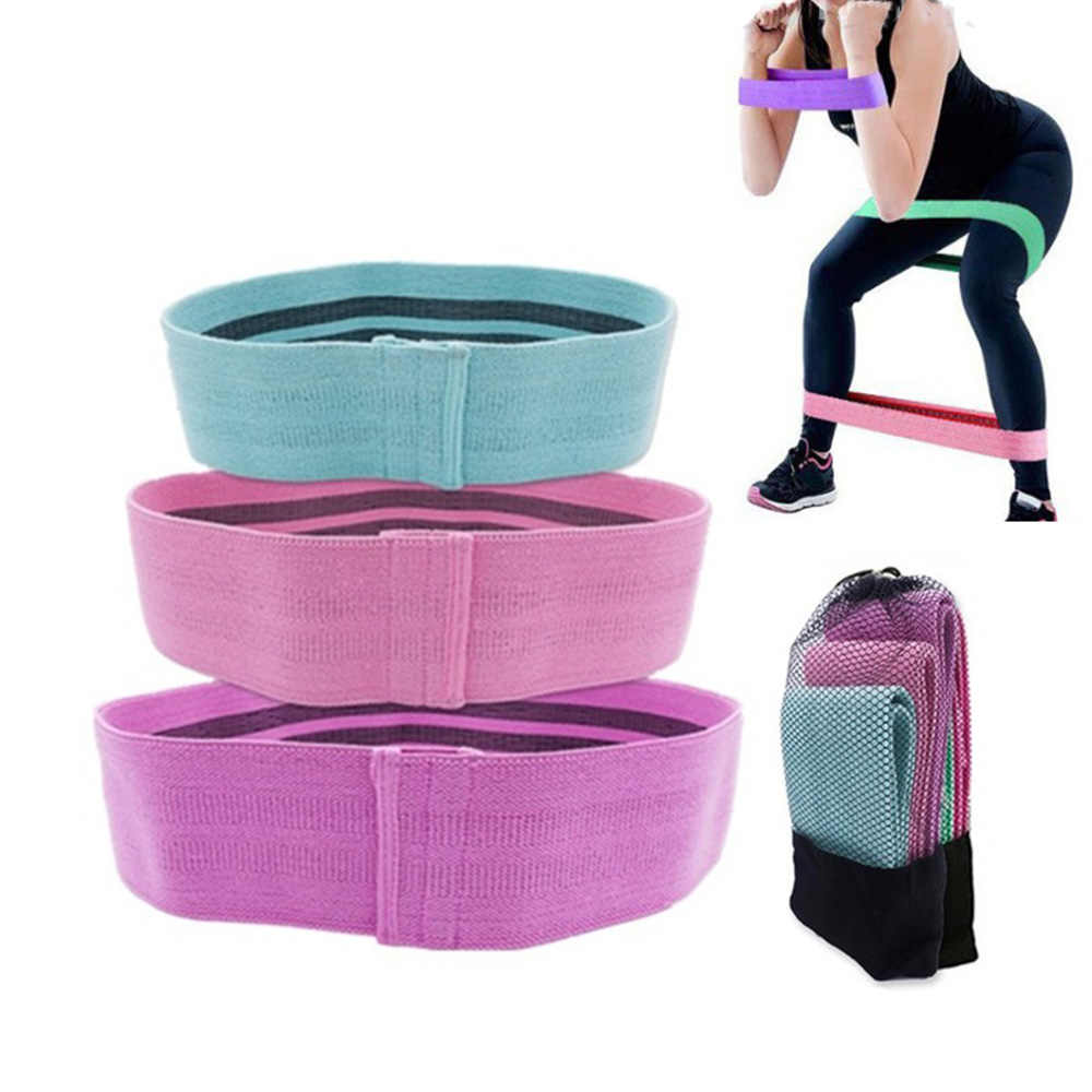 Anti Slip Katoen Hip Band Weerstand Bands Booty Oefening Elastische Bands Voor Yoga Stretching Training Fitness Workout