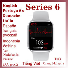 Smartwatch 44Mm Smart Watch 6 Serie 6 Mannen Vrouwen Bluetooth Call Temperatuur Ecg 1.75 Inch Voor Apple Android