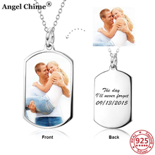 AC 925 Sterling Silver Personalized Photo Pendant Necklaces Customize Letters Memorial Jewelry Anniversary Gift Graduation Gifts