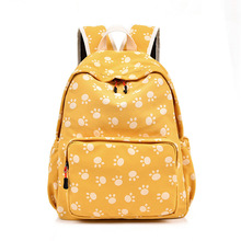 Canvas Backpack 100% Cotton Cute Cartoon School Bag For Teenage Girls Fresh Large Capacity Leisure Or Travel Bag for Women недорго, оригинальная цена